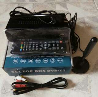DVB-T2 TV SET-TOP BOX USB ACTIVE AMPLIFIER ANTENNA HDTV