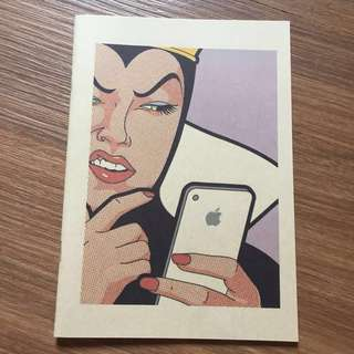 Evil Queen Takes On Apple Notebook CUTE!