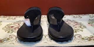 Fitflop Sandals (black suede with studs)