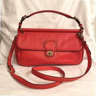 Coach Willis City 22062 Orange Leather Cross Body Bage