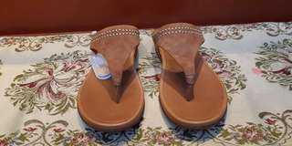 Fitflop Sandals (brown suede with studs)