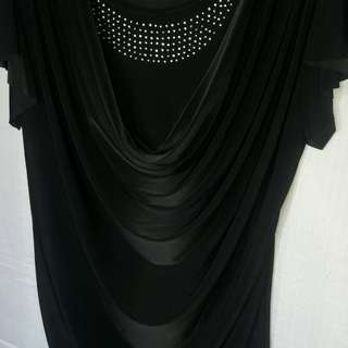 Silk black Cowl Collar so elegant