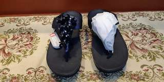 Fitflop Sandals (black with flowers)