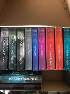 Mortal instruments series by Cassandra Clare