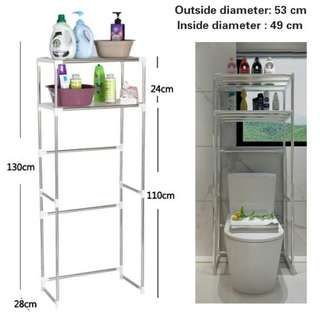 Washing Machine Shelves Bathroom Toilet Shelves Bathroom Shelves Kitchen Organizing Storage Shelves - Intl