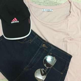 Pull&Bear Pink Crop Top
