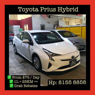 Toyota Prius Hybrid - Grab Car Rentals, Uber welcomed