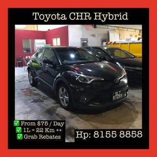 Toyota CHR Hybrid - Grab Car Rentals, Uber Welcomed
