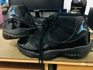 Jordan XI GAMMA BLUE Full black sz 41