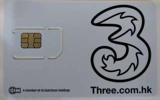 3HK 1年4G 20GB+無限通話分鐘 simcard