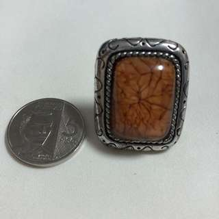 Cocktail Ring - Copper Colored Stone