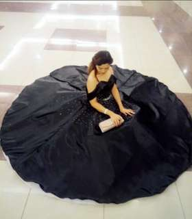 Black ball gown-used once (cebu)