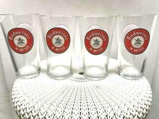 4pcs Budweiser glasses