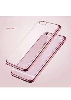 IPhone 7/8 Ultra Slim Metal Bumper Silicone Gel Case
