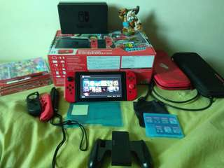 Nintendo Switch SMO edition with various games