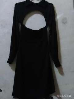Black dress designed by a celebrity