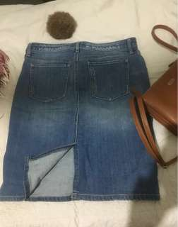 DENIM SKIRT (uniqlo) fits 27-28