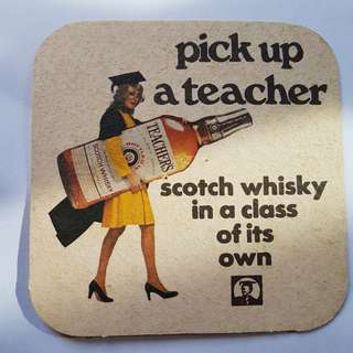vintage whiskey coaster