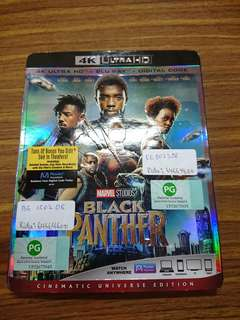 Black Panther 4K UHD Blu ray with standard blu ray (US Version)