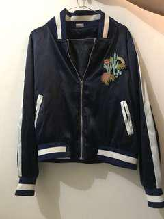 Navy Bomber / Satin Jacket