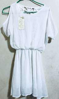 Bn White Babydoll Dress