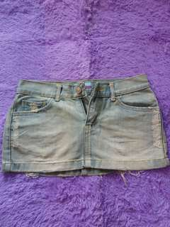 Ripped Skirt Jeans (Jeans Tebal)