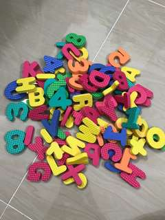 Soft foam alphabets and numbers for kids
