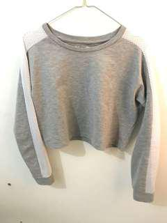 Colorbox Crop Sweater (Grey)