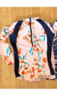 One piece swimsuit rashguard