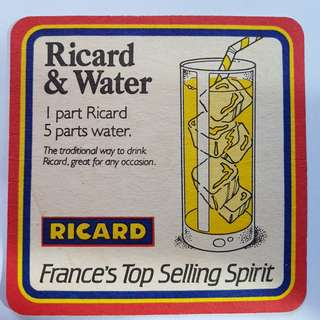 vintage spirits coaster from france
