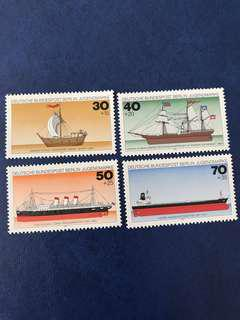 1977 德國 船 郵票