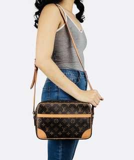 Authentic Vintage Louis Vuitton Trocadero 27 Crossbody Bag Monogram Leather