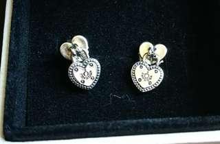 PANDORA 心形耳環