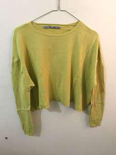 Zara Crop Knit (Custard)