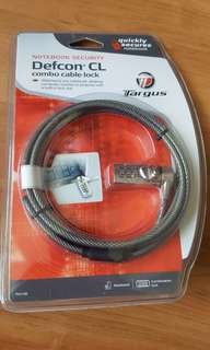 Targus Defcon CL combo cable lock