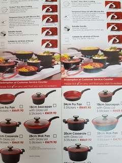 #kayaraya AEON Big stickers to purchase De Chef Cookware at special rate