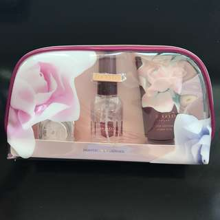 Ted Baker Cosmetic Pouch with Lip Balm, Body Lotion and Body Spray