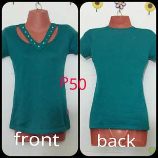 Fitted Green blouse