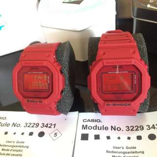 G-SHOCK AND BABY-G COUPLE WATCH