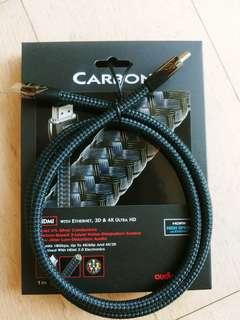 1條 AudioQuest 1M Carbon HDMI cable 5% Silver (行貨)