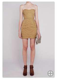 Talulah NWT Dews of a Night mini dress Olive XS