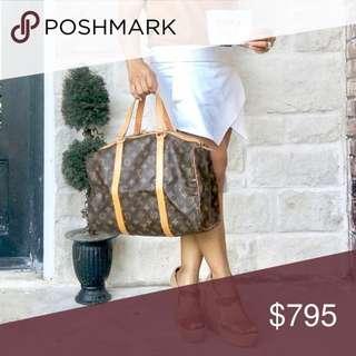 Authentic Vintage Louis Vuitton Sac Soupple 35 Monogram Leather Travel Bag