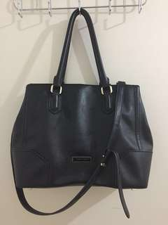 authentic Charles and Keith black office bag