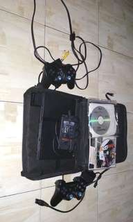 PlayStation 2 with bag