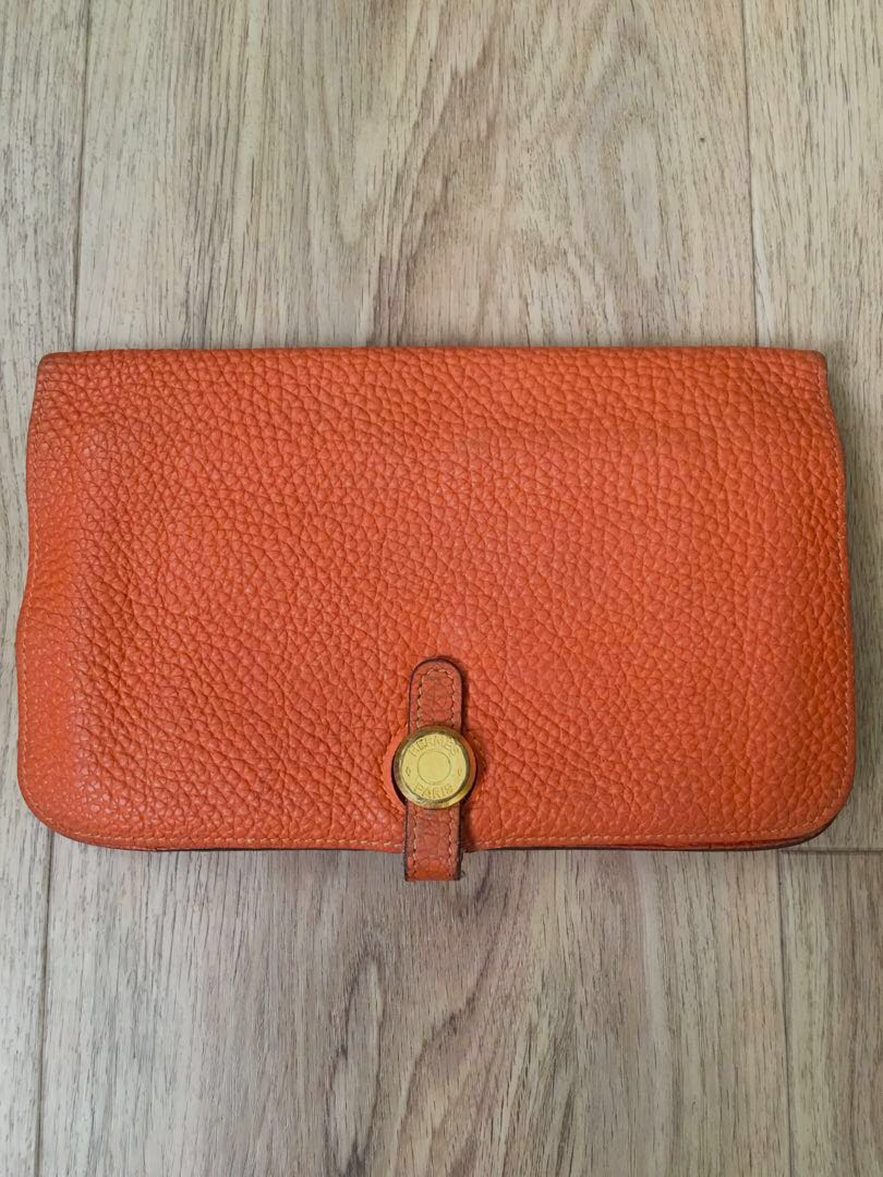 d10962b26c4b 100% Authentic Hermes Dogon Wallet