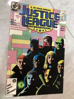 Justice League International special issue comics