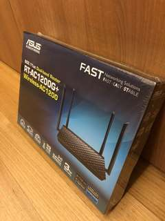 New ASUS AC-1200G+ router 3-year warranty fr 14/6/18