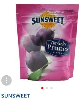 Healthy snack Sunsweet prunes