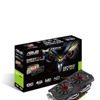 Asus GTX960 ROG Strix OC 4gb edition