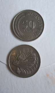 Old Coin Singapore 50cents